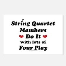 String Quartet Four Play Postcards (Package of 8)