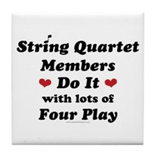 String Quartet Four Play Tile Coaster