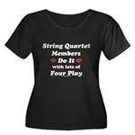 String Quartet Four Play Women's Plus Size Scoop N