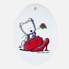 Lil' Pieces of Heaven Westie Oval Ornament