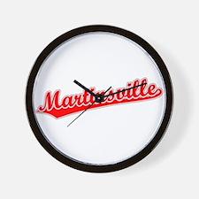 Retro Martinsville (Red) Wall Clock