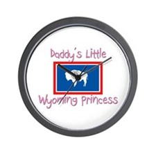 Daddy's little Wyoming Princess Wall Clock