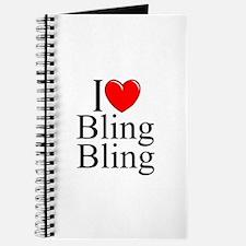 """""""I Love (Heart) Bling Bling"""" Journal"""