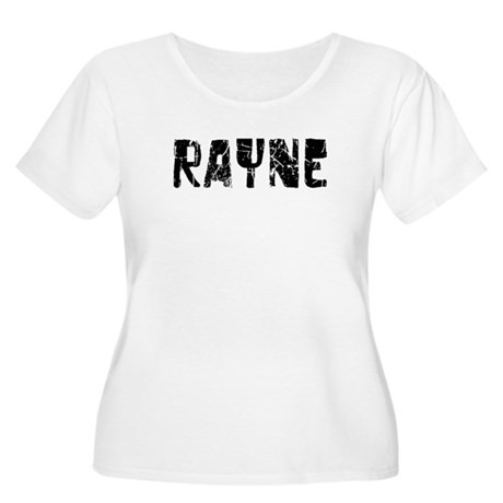 Rayne Faded (Black) Women's Plus Size Scoop Neck T