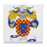 Arce Family Crest Tile Coaster