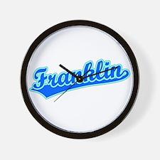 Retro Franklin (Blue) Wall Clock