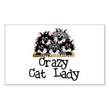 Crazy Cat Lady Rectangle Decal