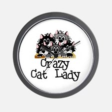 Crazy Cat Lady Wall Clock
