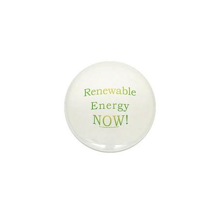 Renewable Energy NOW! Mini Button
