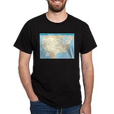 states_capitals_h T-Shirt