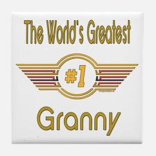 Number 1 Granny Tile Coaster