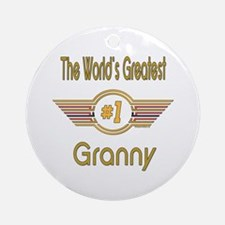 Number 1 Granny Ornament (Round)