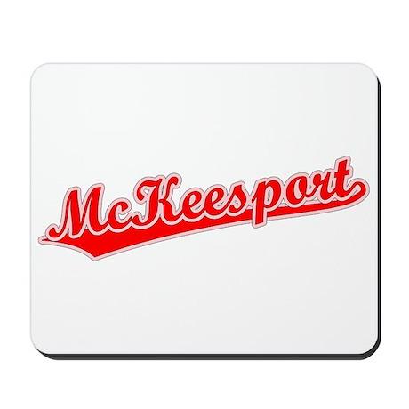 Retro McKeesport (Red) Mousepad