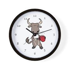 Bull Coffee Cup Wall Clock