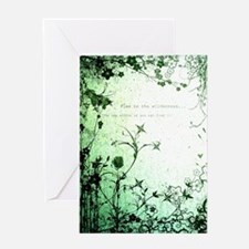 flee to the wilderness Greeting Cards