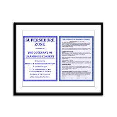 Supersedure & Covenant Framed Panel Print