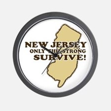 New Jersey Only the strong survive Wall Clock