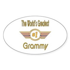 Number 1 Grammy Oval Decal