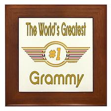 Number 1 Grammy Framed Tile