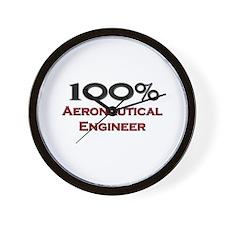 100 Percent Aeronautical Engineer Wall Clock