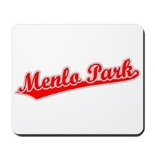 Retro Menlo Park (Red) Mousepad