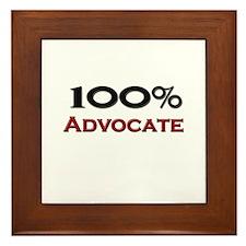 100 Percent Advocate Framed Tile