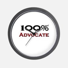 100 Percent Advocate Wall Clock