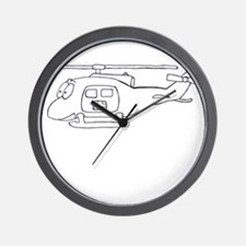 UH-1 BW Wall Clock