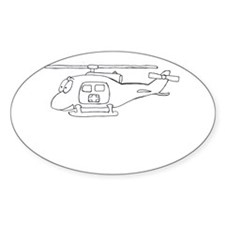 UH-1 BW Oval Decal