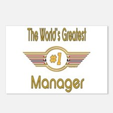 Number 1 Manager Postcards (Package of 8)