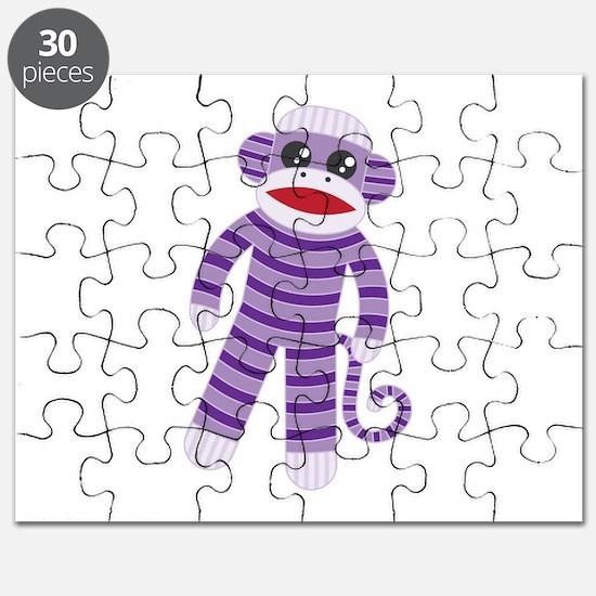 Purple Sock Monkey Puzzle