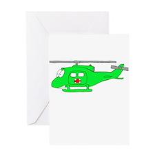 UH-1 Green Greeting Card