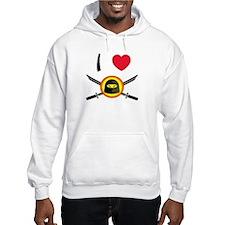 I Heart Ninja Jumper Hoody