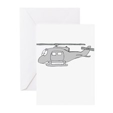 UH-1 Gray Greeting Cards (Pk of 10)