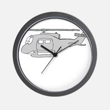 UH-1 Gray Wall Clock