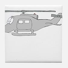 UH-1 Gray Tile Coaster