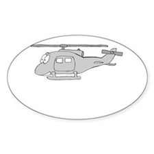 UH-1 Gray Oval Decal