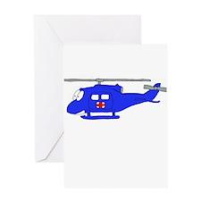 UH-1 Blue Greeting Card