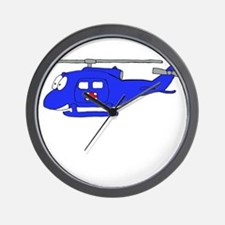 UH-1 Blue Wall Clock