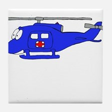 UH-1 Blue Tile Coaster