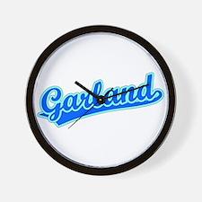 Retro Garland (Blue) Wall Clock