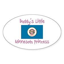 Daddy's little Minnesota Princess Oval Decal