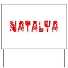 Natalya Faded (Red) Yard Sign