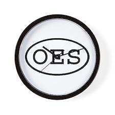 OES Oval Wall Clock