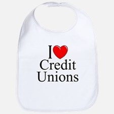 """I Love (Heart) Credit Unions"" Bib"