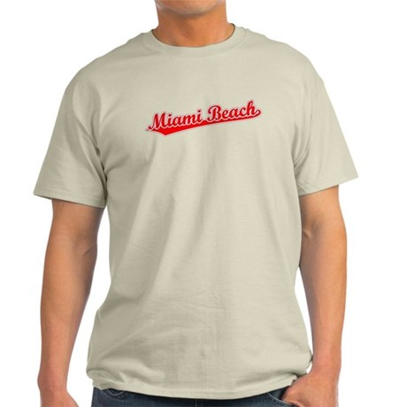 Retro Miami Beach (Red) Light T-Shirt
