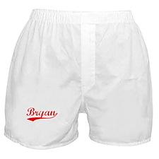 Vintage Bryan (Red) Boxer Shorts