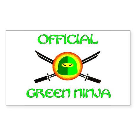 Official Green Ninja Rectangle Sticker