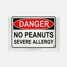 No Peanuts-Severe Allergy Rectangle Magnet