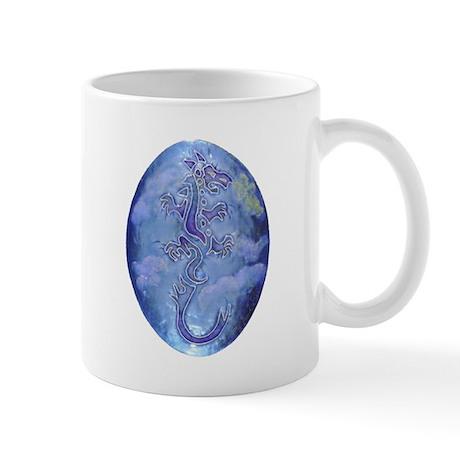 Clouds of Heaven Double Motif Dragon Mug